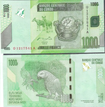 Congo Dem. Rep. Cat # 101 1000 francs