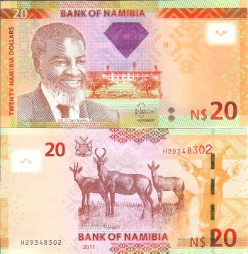 Namibia Cat # 12 20 N. Dollars