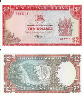 Rhodesia Cat # 31d 2 dollars REPLACEMENT