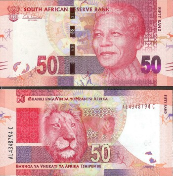 South Africa Cat # 135 50 rand