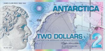 Antarctica 2007 Polymer Issue $2