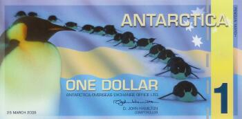 Antarctica 2008 $1 Polymer issue