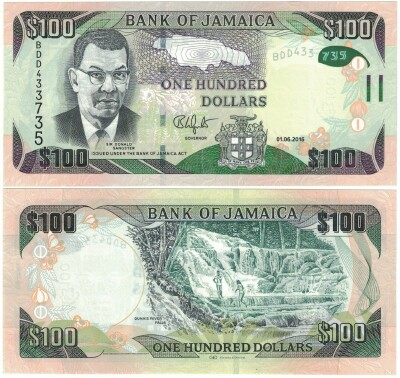 Jamaica New 2016 Issue 100 dollars
