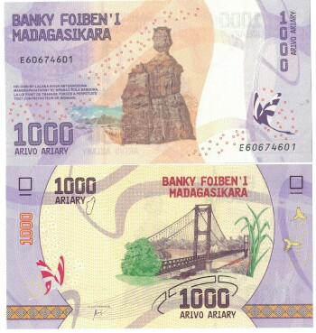 Madagascar NEW 2017 issue 1000 ariary