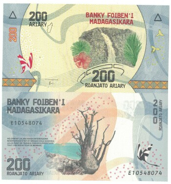 Madagascar NEW 2017 issue 200 ariary
