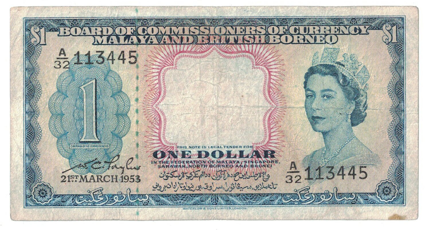 Malaya & British Borneo Cat # 1 1 dollar CIRC #24