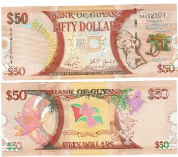 Guyana NEW 2016 Commemorative Issue $50