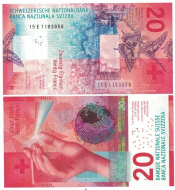 Switzerland NEW 2017 Issue 20 franken