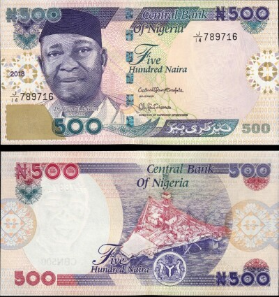 Nigeria # 30 NEW 2018 Issue 500 naira