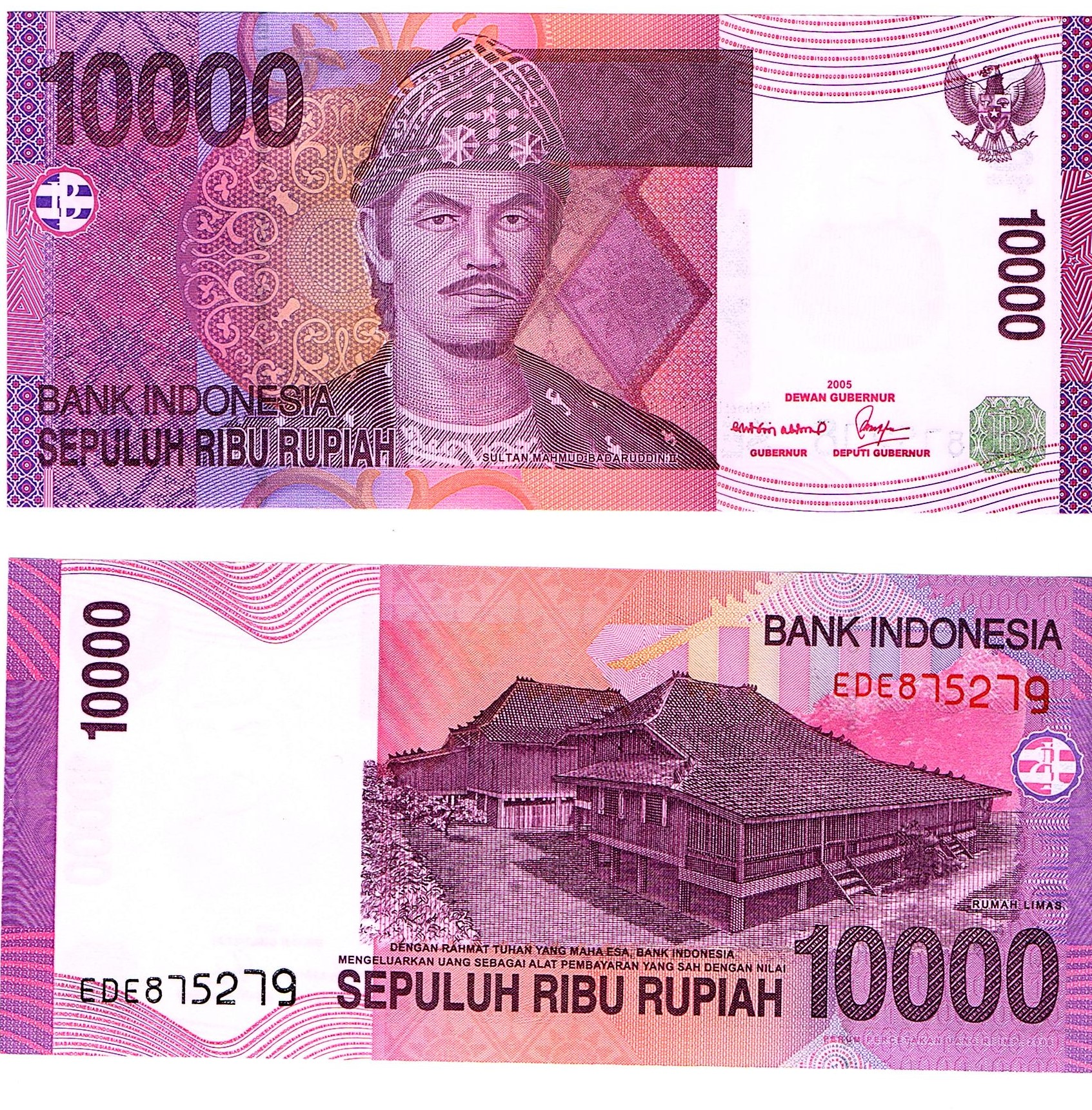 Indonesia #143d x20notes 10000 Rupiah