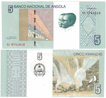 Angola 2012 Issue 5 kwanzas