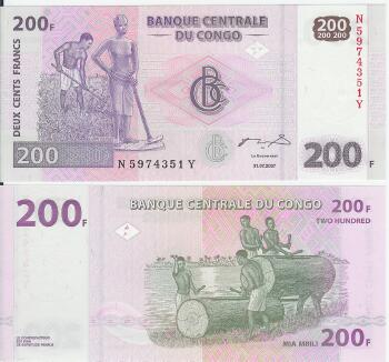 Congo Dem. Rep. Cat # 99 200 francs