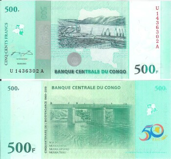 Congo Dem. Rep. Cat # 100 500 francs
