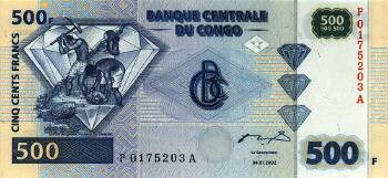 Congo Dem. Rep. Cat # 96 500 francs