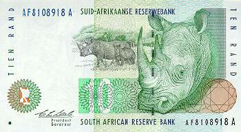 South Africa # 123a 10 rand