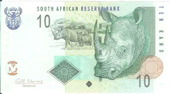 South Africa # 128a 10 rand