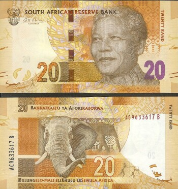 South Africa # 134 20 rand