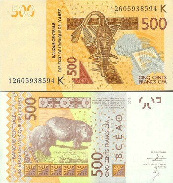 West African States (Senegal) New 2012 500 francs