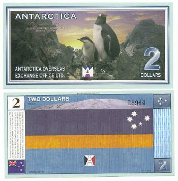 Antarctica 1999 $2 (penguins)