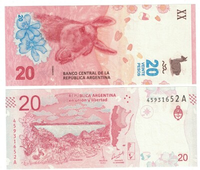 Argentina NEW 2017 issue 20 pesos