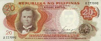 Philippines # 145a 20 piso