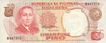 Philippines # 146a 50 piso 1969