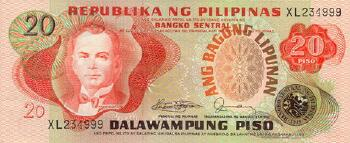 Philippines # 162a 20 piso 1974-85