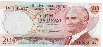Turkey # 187a 20 lira