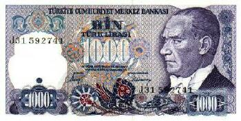 Turkey # 196 1000 lira