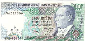 Turkey # 200 10,000 lira