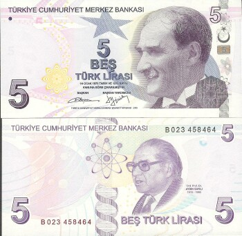 Turkey # 222A 5 lira