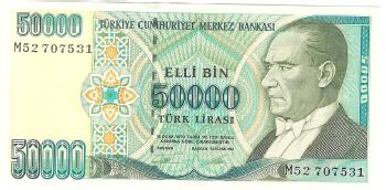Turkey Cat # 204 50000 lira