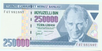 Turkey # 211 250,000 lira