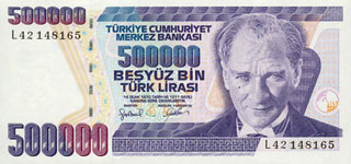 Turkey # 212 500,000 lira