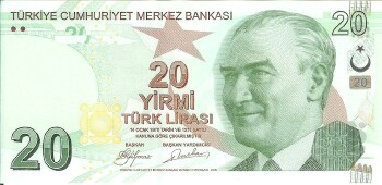Turkey # 224 20 lira