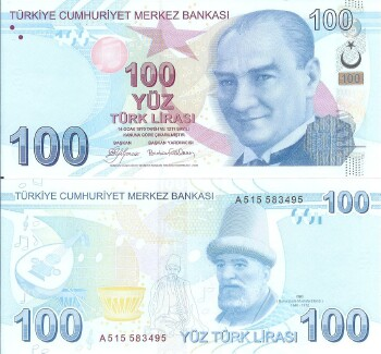 Turkey # 226 100 lira