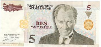 Turkey # 217 5 new lira