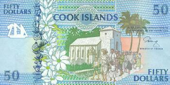 Cook Islands # 10 50 dollars