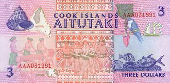 Cook Islands # 7 3 dollars