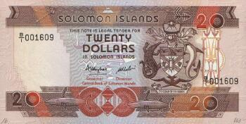 Solomon Islands # 16 20 dollars