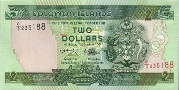 Solomon Islands # 18 2 dollars