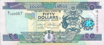 Solomon Islands 2008 Issue 50 dollars