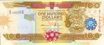 Solomon Islands 2009 Issue 100 dollars