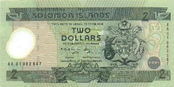 Solomon Islands # 23 2 dollars Commemorative