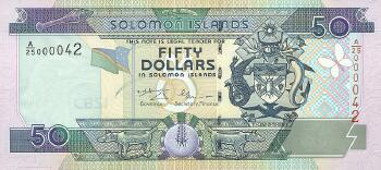 Solomon Islands # 24 50 dollars