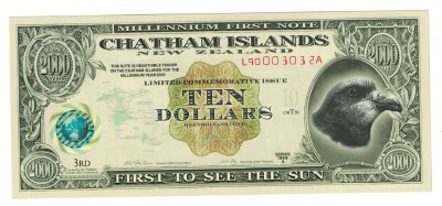 Chatham Islands $10 2000 issue