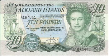 Falkland Islands # 14 10 pounds