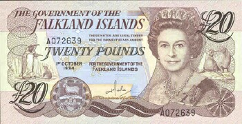 Falkland Islands # 15 20 pounds