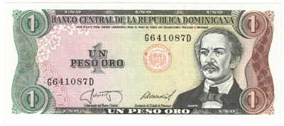 Dominican Republic # 126 1 peso oro (1987)