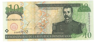 Dominican Republic # 165 10 pesos oro